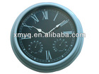 Thermometer & Hygrometer Wall Clock