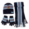 Fashion soft feeling lovely beanie and scarf set