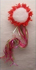 red fairy ribbon hair flower halo / halo