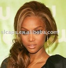 Amazing~ silk big curl human hair full lace Wig