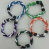 new fashion weave titanium bracelet 2012/new design braided titanium bracelet