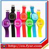 cheap colorful silicone rubber wristband watch