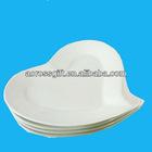White ceramic heart-shaped plates