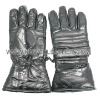 Black Cowhide Leather Motorcycle Glove