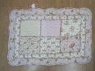 flower print embroidery floor mat