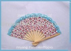 fabric fan, lace fan, bamboo fan,