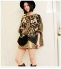 Loose Bat Sleeve Tiger Blouse Coffee XF12092610