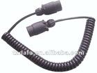 12V/E-mark/7 pin plug/Spiral extension male connectors