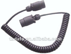 12V/E-mark/7 pin plug/Spiral extension male connectors
