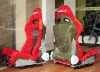 One lot/2pcs adjustable,inclusion feeling,BRIDE+embroidered cloth red/black sports racing car seat SPS05