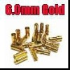 6 mm Gold Bullet Connector Plug lipo rc battery connector
