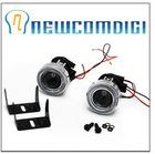 Newcomdigi HID Ready Projector Fog Lights Lamp Lens w/ Halo CCFL Angel Eyes 2pcs