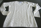 Inner Mongolia Ordos city 100% cashmere Ladies's V neck cable sweater