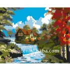 Fairy tale hut oil painting designs 2011