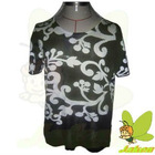 2012 New Hotsale prints of flowers and beading casual short sleeve for spring and summer Ladies Sweater JK135