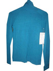Ladies' Fashion Tall Collar Long Sleeve Blue Kintted Sweater
