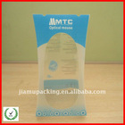 Clear PET plastic box for optical mouse packaging