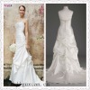 1113-1hs fashion new coming ruching Off-shoulder floor-length strapless white mermaid style wedding dress