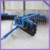 Heavy-duty disc harrow used in tractor