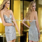 Timeless Sweetheart Short Fitted Stones Sequin Cocktail Dress