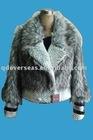 short grey faux fake fur coats