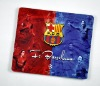 promotional gift computer acecssory mouse mat with football star LOGO as poster