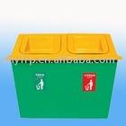 garden fibreglass trash bin