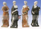 Four Season figure carved marble statue
