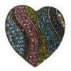 rhinestone zinc alloy heart ring