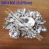 Wedding clear crystal rhinestone brooch
