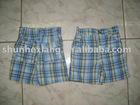Unisex Yarn Dyed Plaid Shorts With Pockets