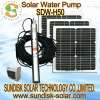 50M deep solar water pump for irrigation