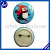 penguin tin button badge