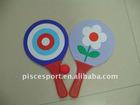 Plastic beach racket ball
