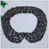 Black shinny pearl full round fake collar