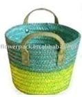 Wheat braid bouquet holder