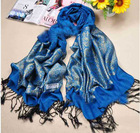Tassel pashmina scarf shawl imitation gold&silver flower printed cotton scarf wraps