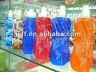 Outdoor use sport foldable water bottle 480ml(16 oz)