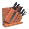 bamboo knife block & cutting board