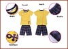 Boys Summer Suit with Yellow T-shirt and Checked Pants