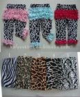 100% cotton legging with lace ruffle for baby