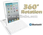 Wireless Bluetooth Keyboard Swivel 360 Rotate Case Cover for iPad 3