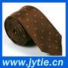 100% Silk Brown Woven Necktie