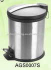 3/5/12/20/30L stainless steel garbage bin with plastic lid