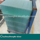 3.2mm tempered glass with round polished edge for refrigeration