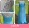 Custom Made Cap Sleeves Beaded Pleats Chiffon Floor Length Prom Dress Long Evening Gown