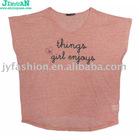 ladies' Puff Printing T-shirt