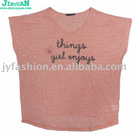 ladies' Puff Printing T-shirt