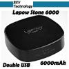 Colorful Smartphone external battery/ 6000mah power bank portable power source Lepow Stone 6000