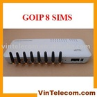 8 SIMs GoIP8 VoIP GSM Gateway / GOIP8 Gateway GSM-VoIP /GOIP/ GOIP / VoIP GSM Gateway for IP PBX application